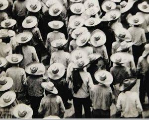 campesinos en huelga