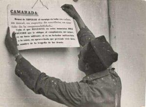 soldado y cartel